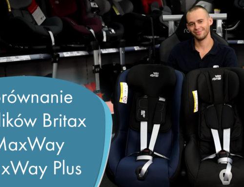 Porównanie fotelików Britax MaxWay i MaxWay Plus