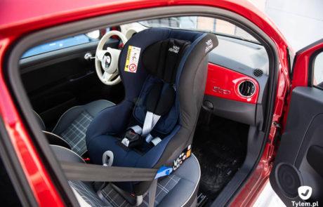 Britax MaxWay - Fiat 500. Mały samochód i fotelik samochodowy