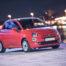 Fiat 500 Mały samochód i fotelik samochodowy